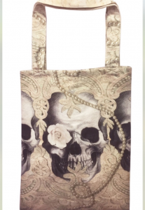 Tygväska/Shoppingbag, Lace Skull