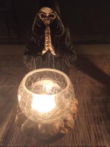 Ljuslykta för 1 ljus med glas kopp, Reapers Prayer
