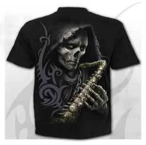 T-shirt, Spiral, Reaper Blues