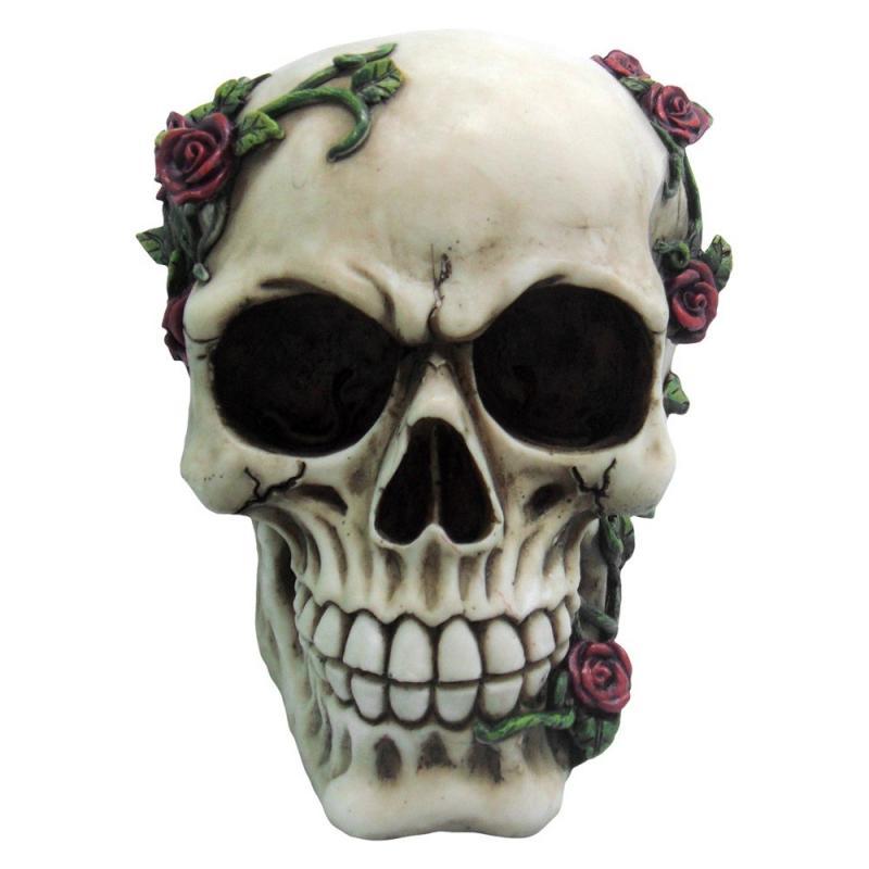 Dekoration Dödskalle Rose From Beyond