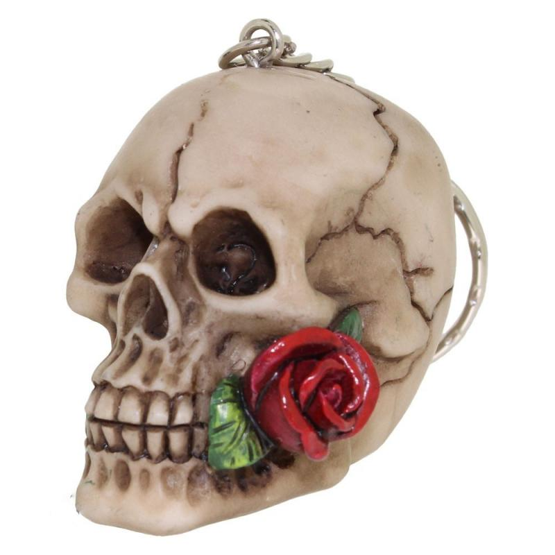 Nyckelring, Dödskalle, Rose from the dead