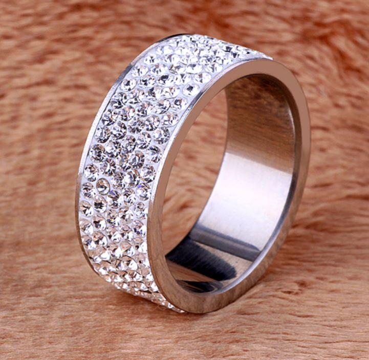Ring, Rosy Silver, Rostfritt