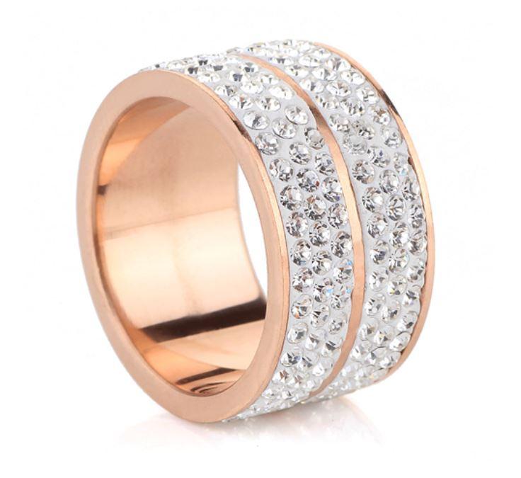 Ring, Roxy Rosé/Silver, Rostfritt