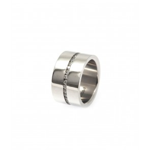 Ring, Rozy Silver, rostfritt stål.