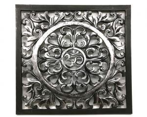 Tempeltavla - OM svart & silver L