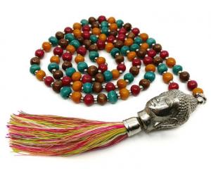 Mala Halsband - Buddha 108 pärlor, Rainbow