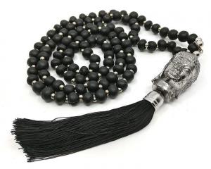 Mala Halsband - Buddha 108 pärlor, Svart