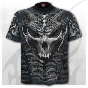 T-shirt, Spiral, Skull Armour Allover