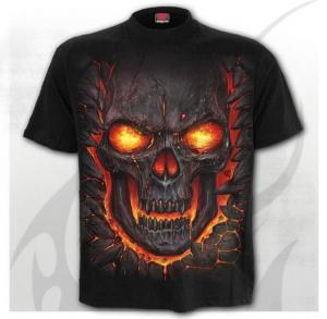 T-shirt, Spiral, Skull Lava