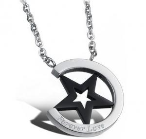 Halsband rostfritt stål -Forever Love Stjärna
