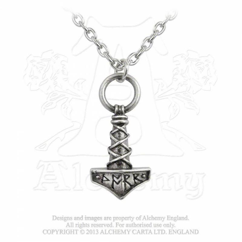 Designhalsband Thors Hammer Amulett