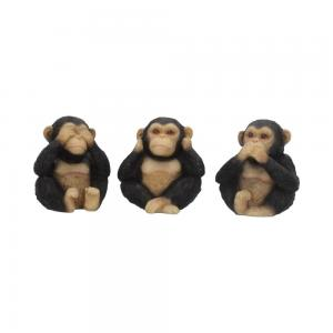 Dekorationer 3-pack, See no, hear no, speak no, Chimps