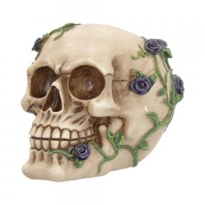 Dekoration Dödskalle Lila rosor