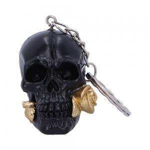 Nyckelring, Dödskalle, Black rose from the dead