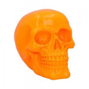 Döskalle Dekoration Psychedelic Orange