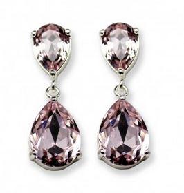 Örhängen,Ventura Pink Silver