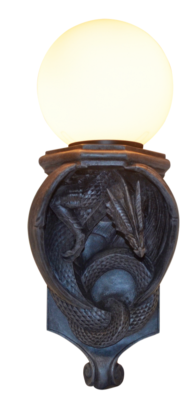 Vägglampa, Drake med Kupa