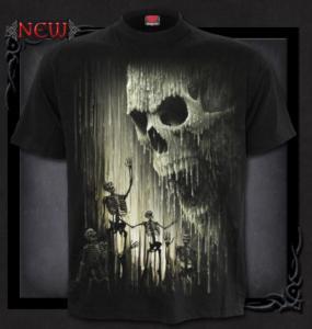 T-shirt, Spiral, Waxed Skull