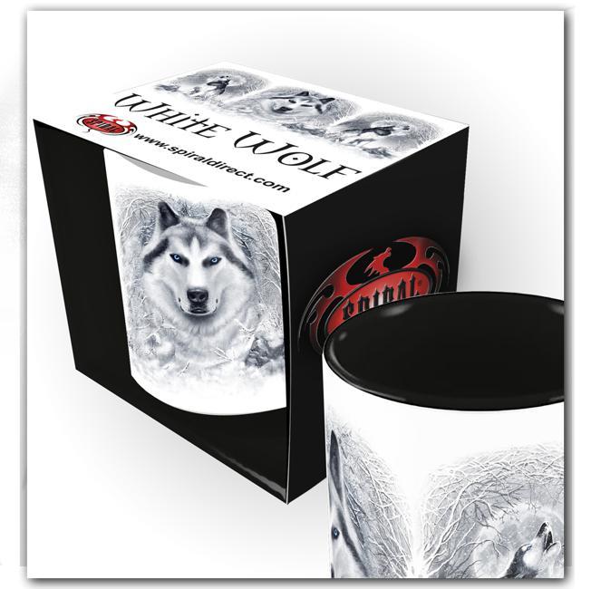 Keramikmugg, Spiral White Wolf