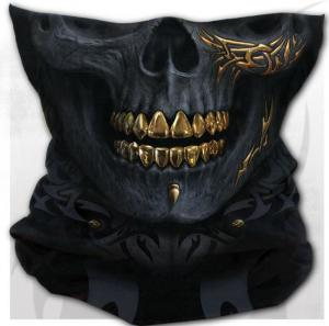 Tub Halsduk Mask, Black Gold