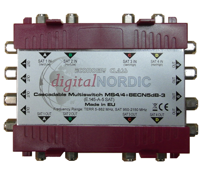 MS4/4-8 ECN 5dB-3 Cascadable