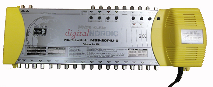 MS9in/20 out PIU-6 Multiswitch