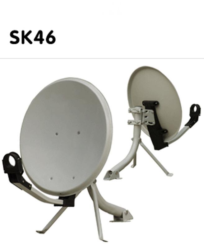 46x50cm Hyro SK Satellite Dish (including ground / wall mount)