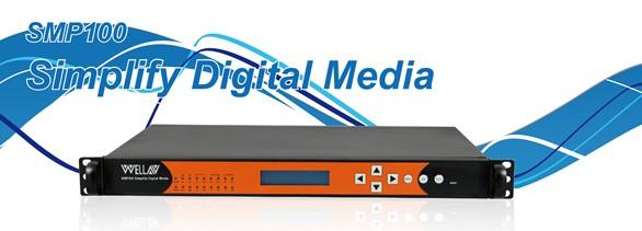 WELLAV SMP180 IPTV Platform 3Moduler platsför fördelning av DVB signal via Internet ,QAM