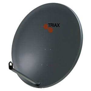 110cm Triax Parabol Ljusgrå Offset Fyrkant