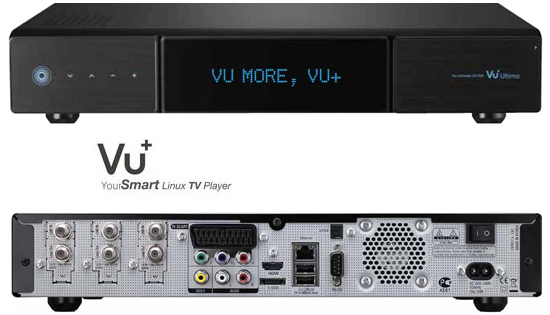 VU+ Ultimo HDTV Tripple Tuner 3st Valfria Tuners