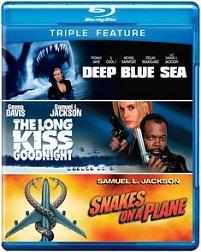 Deep Blue Sea / Long Kiss Goodnight / Snakes On A Plane (BLU-RAY)