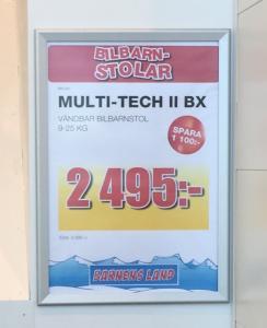 Snäppram  70x100  495 kr / st  aluminiumprofil 45 mm