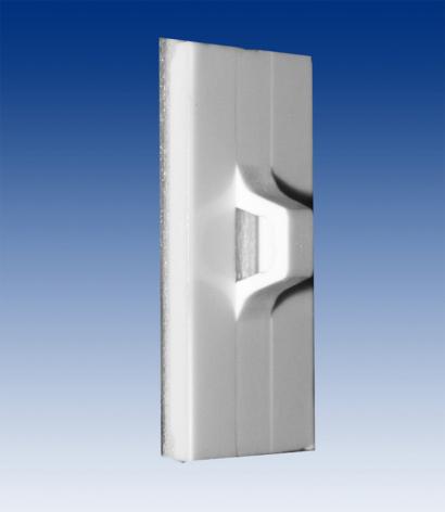 Bandhållare vit 26x14 med avtagbar tejp