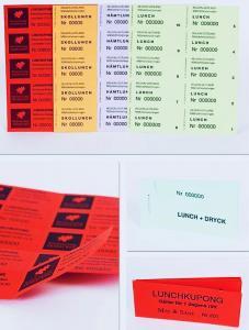 Biljetter -kuponger med tryck