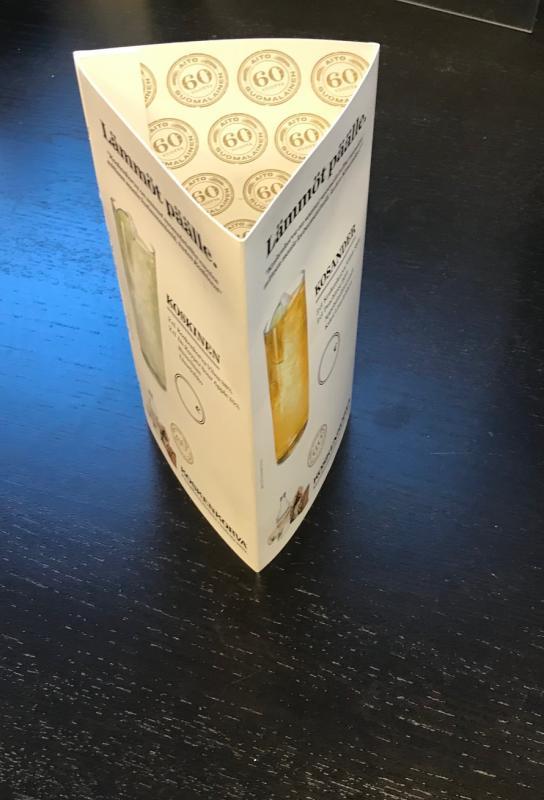 Bordsdiaplay 200x100x trekant