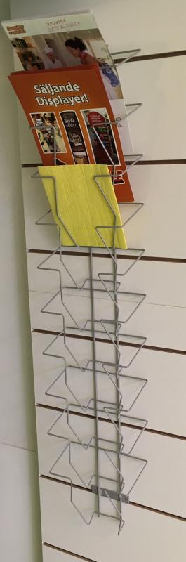 Broschyrställ A4 för väggen