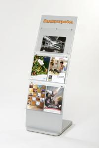 Broschyrställ A4 för 6 broschyrfack