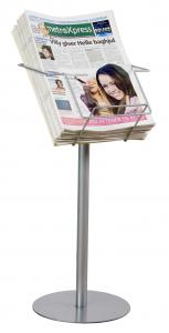 Tidningsställ A4 / format    mycket enkelt att montera och stabil fot