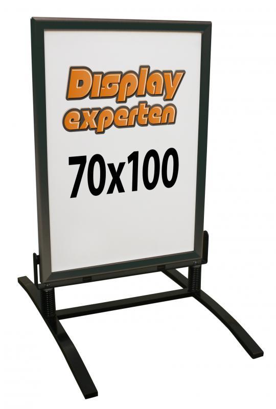 Gatuställ  70x100 Alu-fläder Basic svart plastficka ingår
