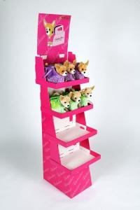 Golvställ med 4 hyllor för lätta produkter-mjukisdjur