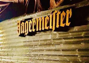 Logo skylt Jägermeister 2 meter