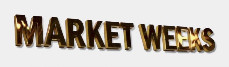 Laserskuren logo Market weeks