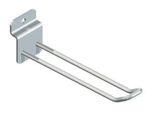 Dubbelspjut i metall för spårpanel 200 mm långt mf 226