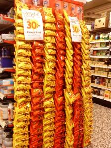 Plastslipsar som säljer godis