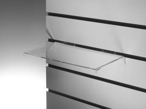 Plexi-akrylhylla B 250 x 100 mm för spårpanel