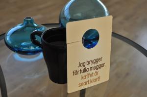 Kaffeskylt 100x150 mm med hål