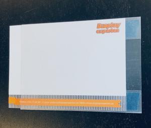 Skyltficka A6 med nano tejp