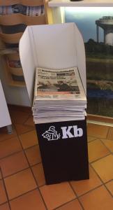Tidningställ i wellpapp