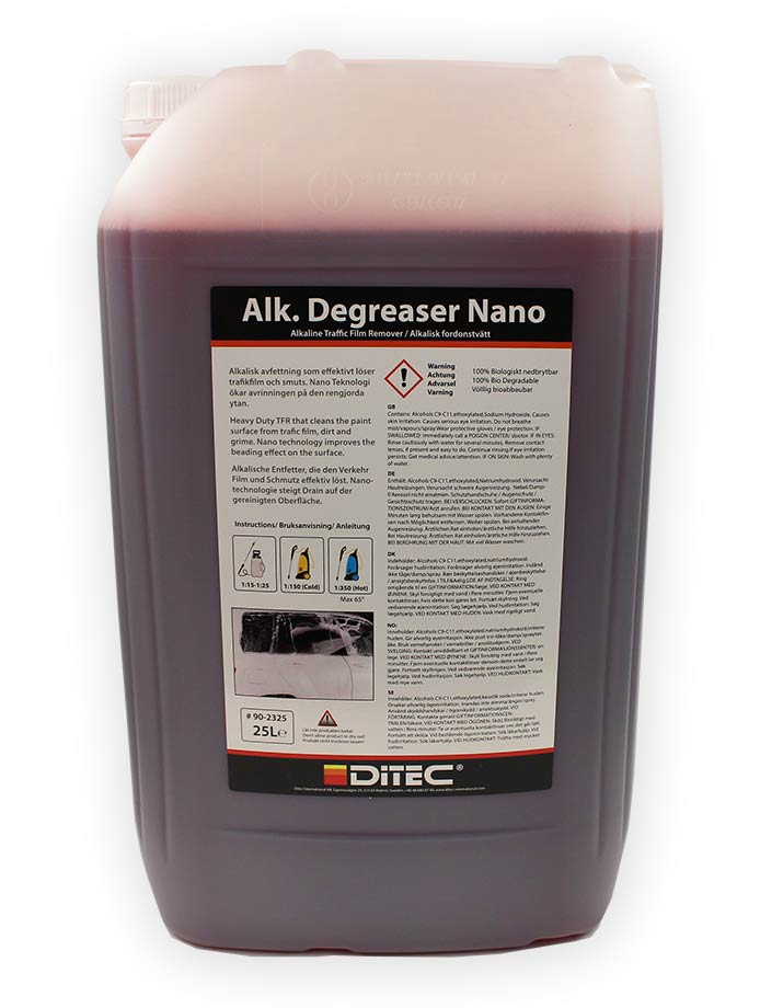 Ditec Alkalisk Degreaser Nano, 25 Liter.