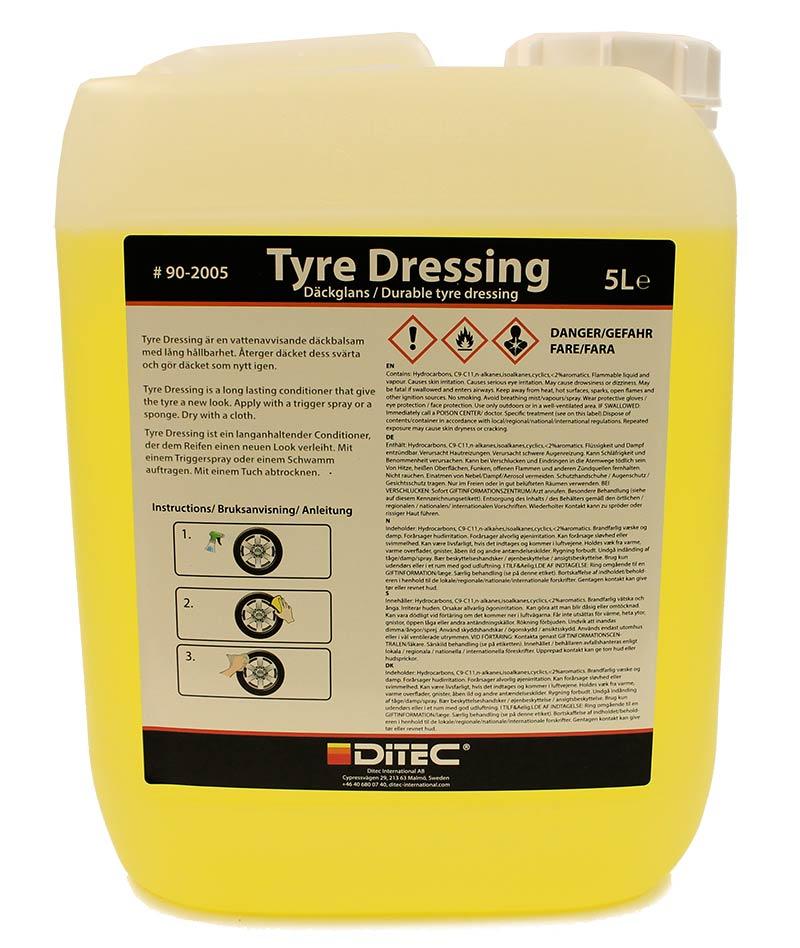Ditec Tyre Dressing, 5 Liter.